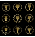 Golden cup set vector image vector image