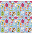 flu influenza icons seamless pattern vector image