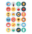 Food Flat Icons 4 vector image