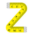 letter z ruler icon cartoon style vector image