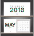 May 2018 calendar desk calendar modern design vector image