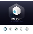 Music icon in different style vector image