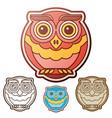 owl flat set vector image