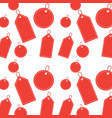 seamless pattern label blank christmas different vector image