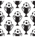 Soccer champions trophy seamless pattern vector image