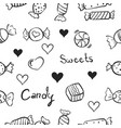 sweet candy doodles vector image