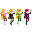 Superheroes vector image