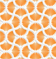 3D orange ray striped pin will grid vector image