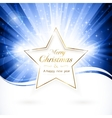 golden christmas star vector image vector image
