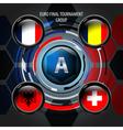 European Flag Buttons A vector image