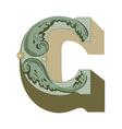western letter b vector image vector image