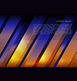 abstract metal background in blue and orange color vector image