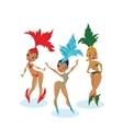 cartoon cute design of dancing samba queen vector image