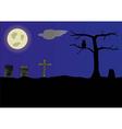 Cemetery vector image