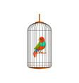 creative of little parrot in metal vector image