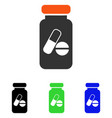 drugs phial flat icon vector image