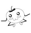 kawaii tomato icon imag vector image