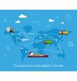 Logistics and transportation concept vector image