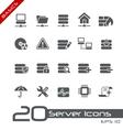 Network Server Basics Series vector image