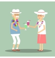Senior Couple Drinking a Cocktail vector image