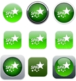 Spa green app icons vector image