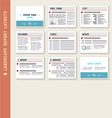 Document Report Layout Templates Mockup Set vector image