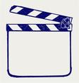 Clapper board vector image vector image