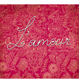 lamour on romantic background vector image vector image