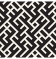 Seamless Black and White Maze Lines Pattern vector image