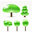 Web abstract trees A set of glossy icons vector image
