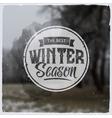 Creative graphic logo message for winter design vector image