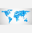 blue geometric abstract world map vector image