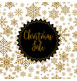 christmas sale label on winter background vector image