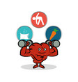 fitness heart healthy gym workout vector image