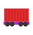 Freight car vector image
