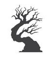 halloween tree glyph icon halloween and scary vector image