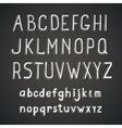 Hand drawn comic retro font white Alphabet vector image