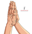 Praying hands detailed vector image