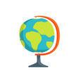 school geography globe cartoon vector image