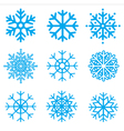 snowflakes collection element for design vector image