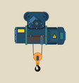 suspension hook and an electric hoist vector image