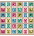 Vintage Alphabet Stamps vector image
