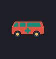 Ambulance computer symbol vector image