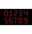 clock digits font vector image