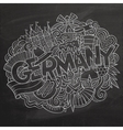 Cartoon cute doodles Germany vector image