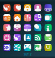 colorful flat icons-set 2 vector image vector image