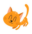 cute and funny red cat character fawning asking vector image vector image