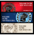 Welcome new Mayan era banner vector image vector image