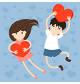 of girl and boy vector image vector image
