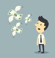 money flying vector image vector image